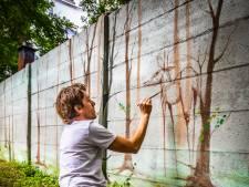Tuin Magazijn wordt optisch een stukje groter dankzij muurschildering