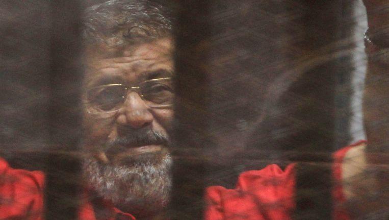 Voormalig president van Egypte Mohamed Morsi (archiefbeeld) Beeld EPA