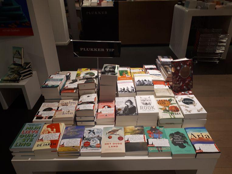 Persoonlijke boekentips van de medewerkers van de boekhandel. Beeld Emiel Hakkenes