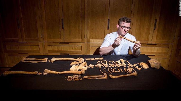 Het skelet van de vrouw