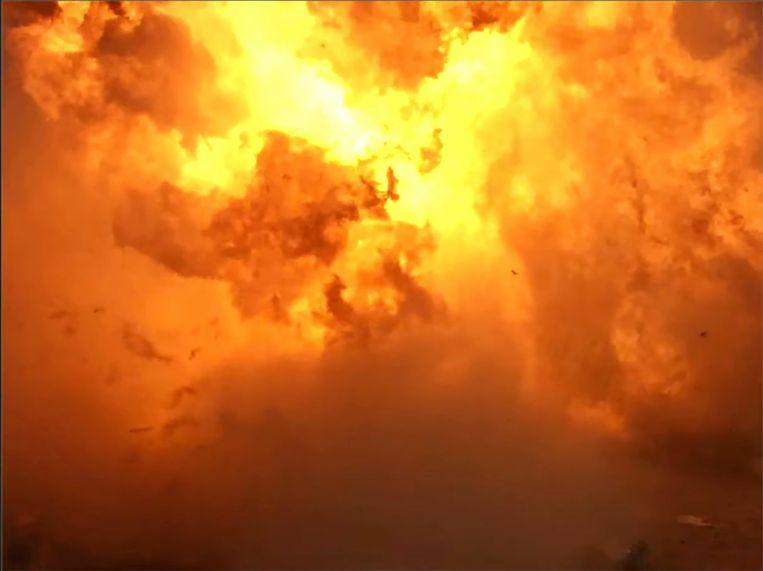De Starship-raket explodeerde bij de landing van een testvlucht.  Beeld AP