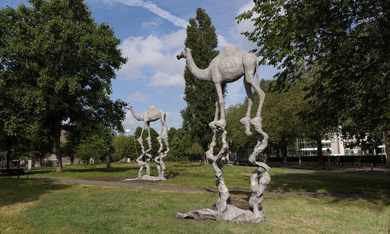 Jean Marie Appriou, 'The big watcher, The big traveler' op Artzuid 2021. Beeld Jan Willem Kaldenbach