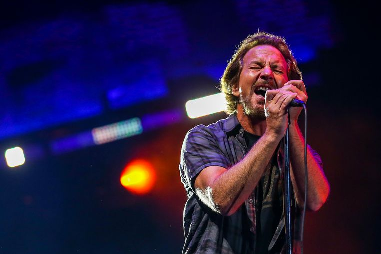 Eddie Vedder, de zanger van Pearl Jam. Beeld EPA