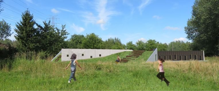 Een simulatie van de nieuwe jeugdlokalen. De verhuur voor bivaks zal wel beperkt zijn.