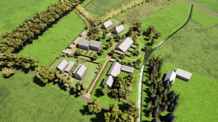 Het concept bouwplan voor het voormalige tuincentrum aan de Brinkweg.