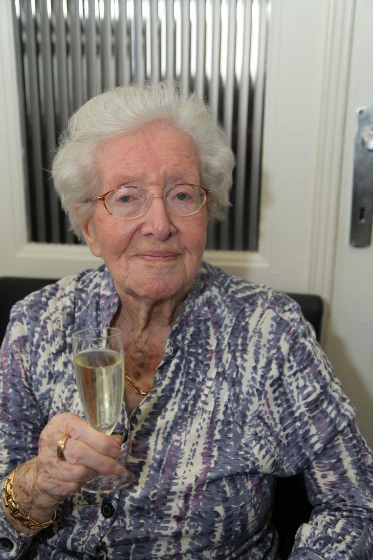 GULLEGEM - Lia Depreitere op haar honderdste verjaardag