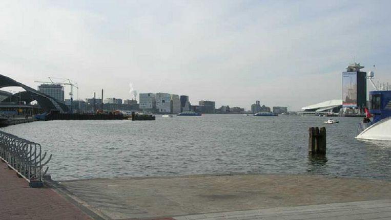 De locatie van het Aidsmonument. Beeld Aidsmonument Amsterdam.