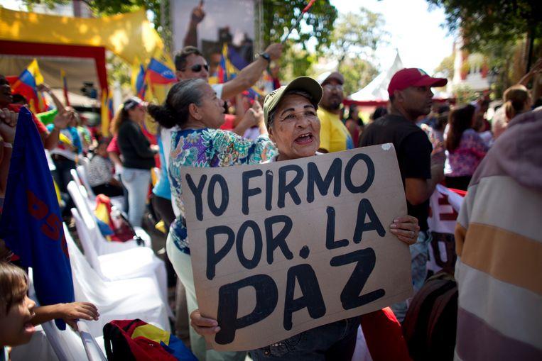 Demonstranten in Venezuala Beeld AP