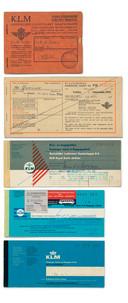 Onderaan het laatste papieren ticket (2018). Foto KLM Heritage Centre