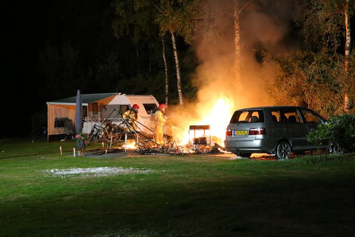 Een echtpaar overleed na een verwoestende brand in hun caravan op camping De Achterste Hoef in Bladel