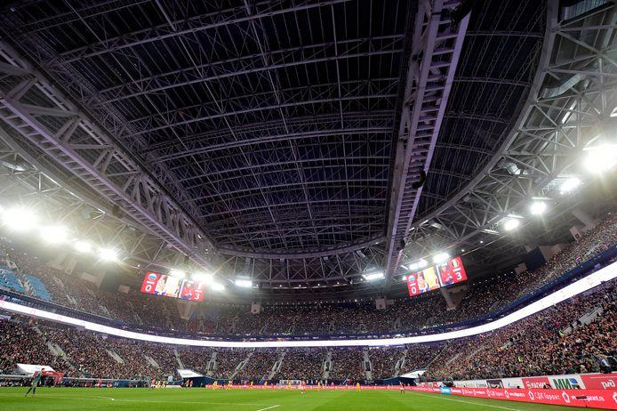Le Stade de Saint-Petersbourg, qui accueillera le premier match des Diables à l'Euro, sera à moitié rempli.