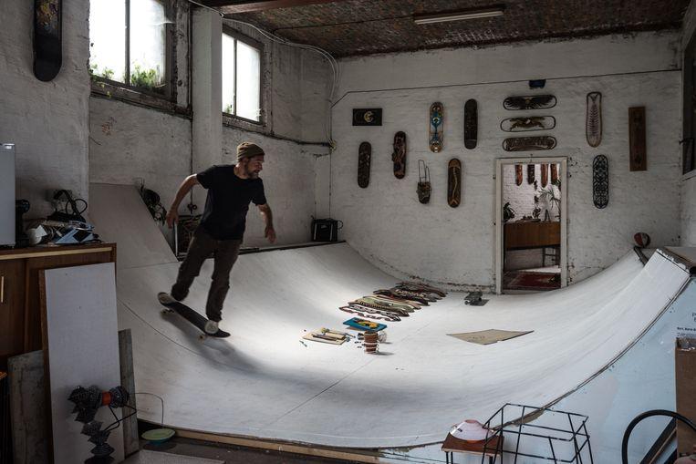 In BrandweRK worden ook skatelessen gegeven.  Beeld Wouter Maeckelberghe
