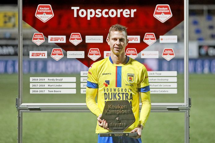 Robbert Mühren werd met overmacht topscorer van de Keuken Kampioen Divisie.