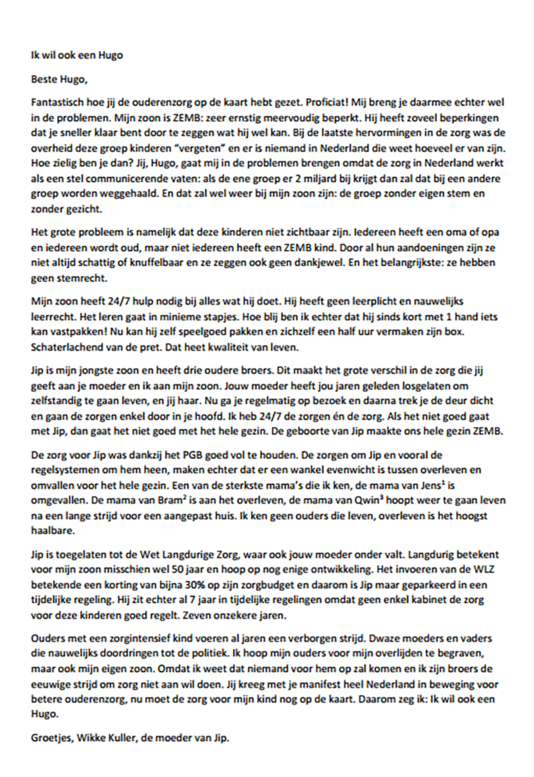 Lees hier de brief