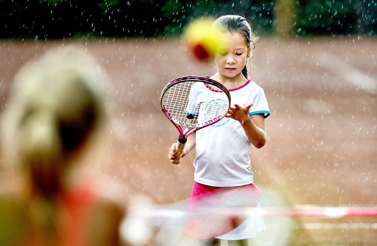 Tennis GLTB Jeugdtoernooi, Categorie Rood, Groningen. Beeld Klaas Jan van der Weij