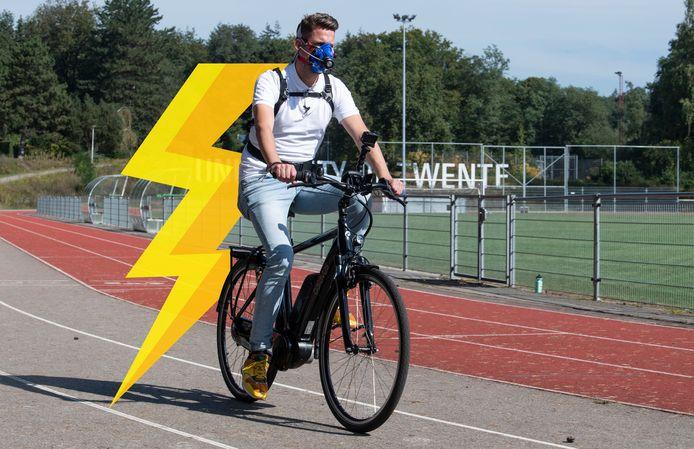 Wetenschappelijk experiment! Hoe gezond is elektrisch fietsen eigenlijk? Joost doet een test, met hulp van wetenschappers van de Universiteit Twente.