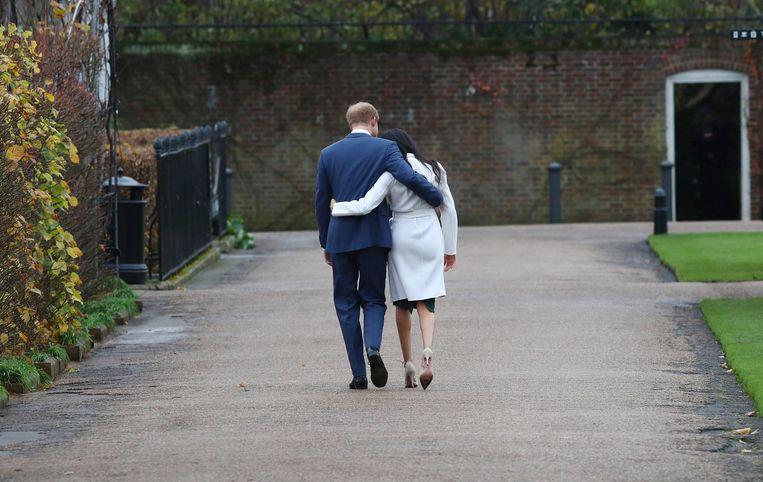 Prins Harry en zijn vrouw Meghan  Beeld EPA
