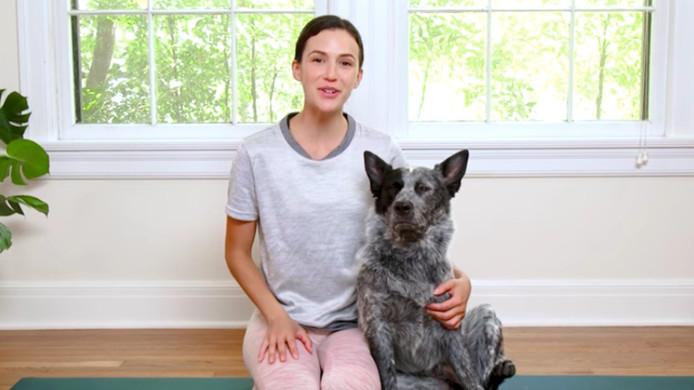 Adriene Mshler met haar hond Benji