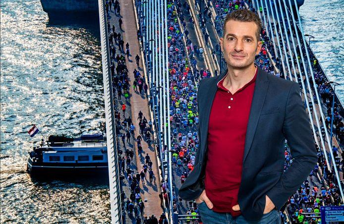De marathon over de Erasmusbrug