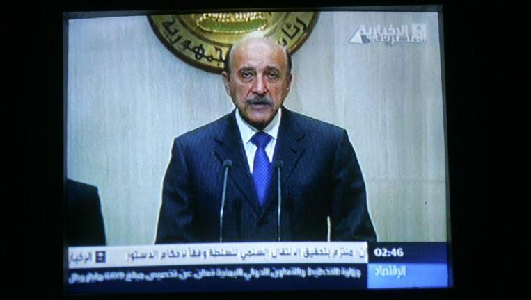Omar Soeleiman, voormalig vicepresident van Egypte, overleefde begin februari een aanslag. Beeld PHOTO_NEWS