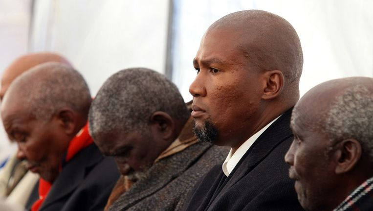 Kleinzoon Mandla Mandela. Beeld ANP