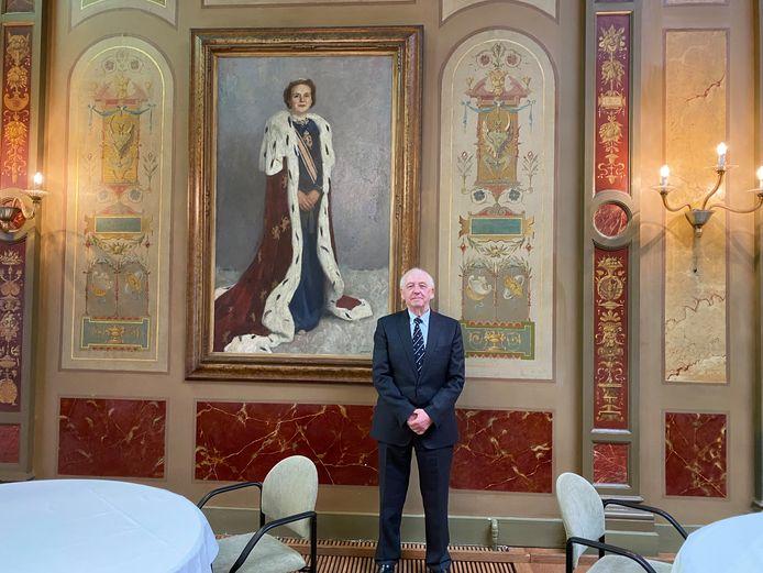 Aad Meuldijk in The King's Ballroom die ook wordt gebruikt voor bruiloften, diners en vergaderingen.