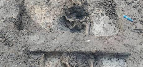Skelet ontdekt bij graafwerkzaamheden in Utrecht, waarschijnlijk honderden jaren oud