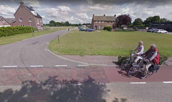 De toegangsweg naar Reek-Zuid vanaf de Mgr. Borretstraat.