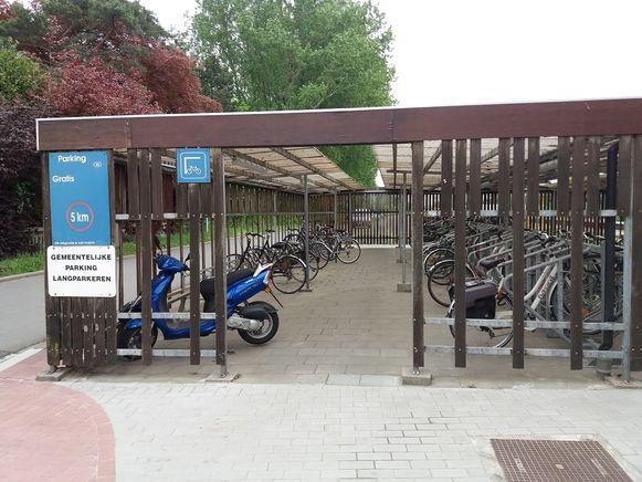 De overdekte fietsenstalling