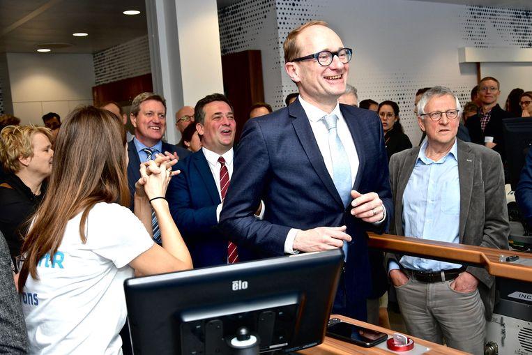 Minister Weyts probeerde de loopband even uit.
