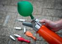 Lachgasgebruik in het verkeer is de afgelopen jaren fors toegenomen.