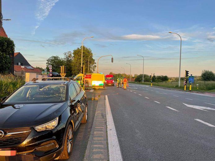 De fietser raakte zwaargewond bij het ongeval