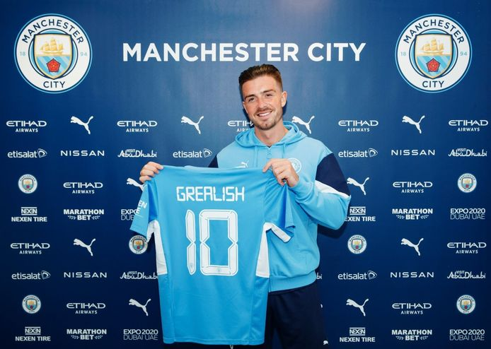 Jack Grealish tekende een zesjarig contract bij Manchester City, waar hij met rugnummer 10 gaat spelen.