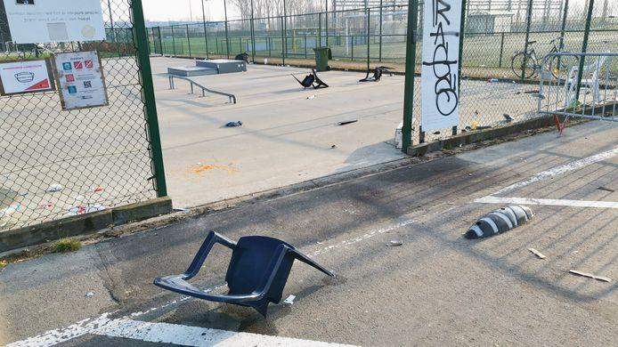 Het skatepark van sportsite Dooren werd afgelopen weekend gevandaliseerd.