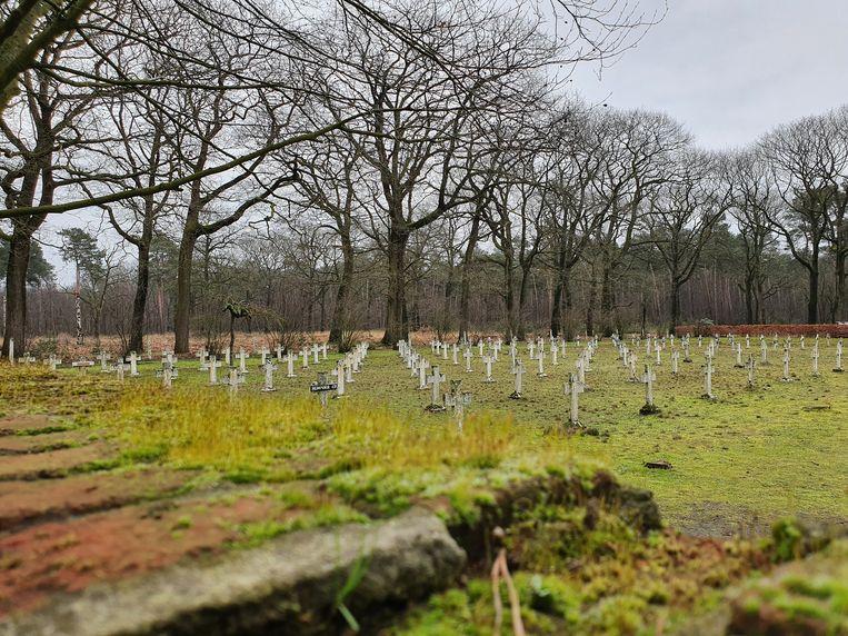 De begraafplaats van Wortel Kolonie. Begin 2020 werd een van de laatste landlopers er begraven. Beeld Toon Verheijen