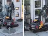Aannemer gaat helemaal door het lint en sloopt alle balkons van dit appartementencomplex