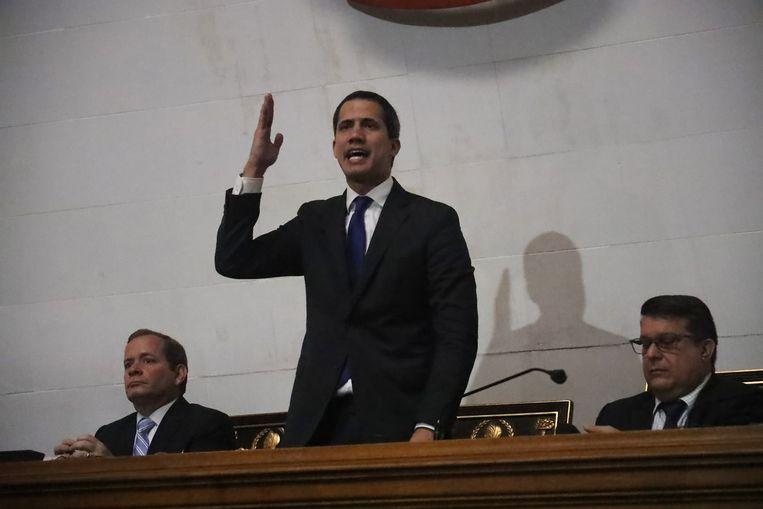 Oppositieleider en parlementsvoorzitter Juan Guaidó
