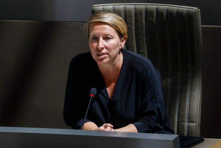 Vlaams Parlementslid Caroline Gennez (sp.a). Beeld BELGA