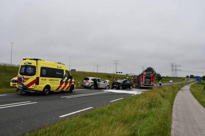 Het ongeval gebeurde op de Oude Rijksweg bij Yerseke.