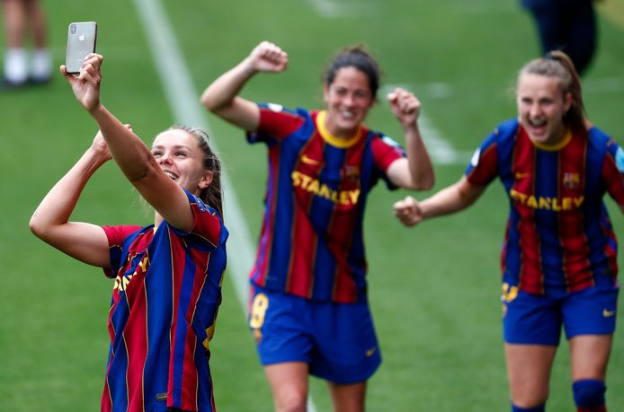 Lieke Martens is met Barcelona opnieuw kampioen van Spanje geworden.