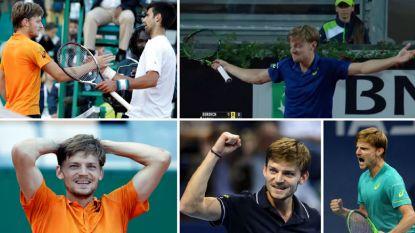 Van een slijtageslag van 4,5 uur tot een meesterlijke zege tegen Djokovic: de straffe overwinningen van Goffin op een rijtje