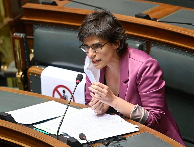 Minister van Energie Tinne Van der Straeten (Groen) Beeld Photo News