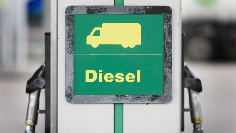 Ook diesel is weer duurder geworden. Beeld null
