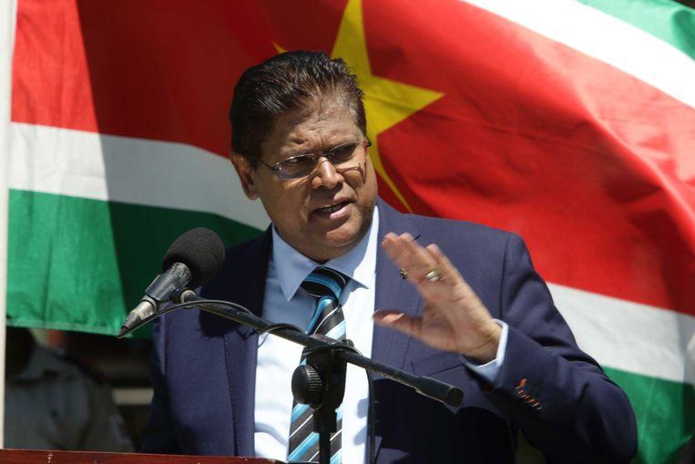 De Surinaamse president Chan Santokhi. Beeld ANP