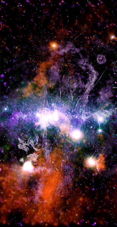 Het magnetische centrum van de Melkweg in beeld.