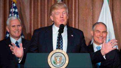 Trump ondertekent decreet dat Obama's klimaatbeleid van tafel veegt