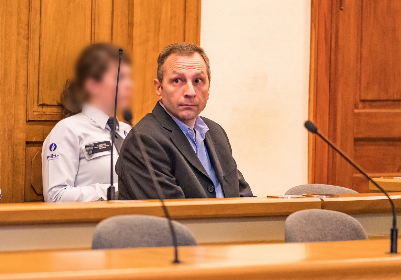 Johan Devriendt op het derde assisenproces in Leuven, in 2017. Uiteindelijk verdict: levenslang.  Beeld Photo News