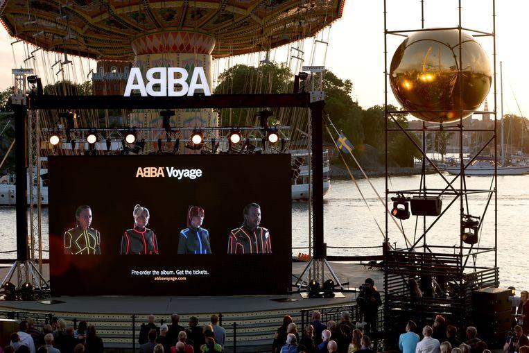 De aankondiging van Abba's nieuwe album Voyage en hologramconcerten Beeld EPA