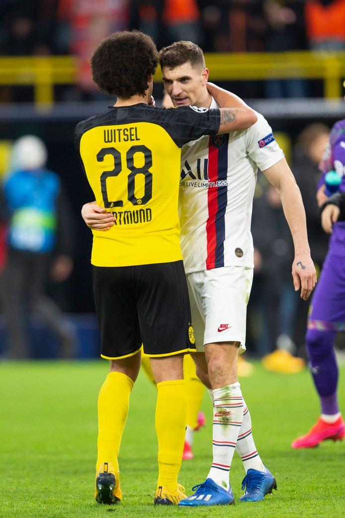 Adversaires en huitièmes de finale de la Ligue des Champions l'hiver dernier, Axel Witsel et Thomas Meunier seront sans doute équipiers la saison prochaine.