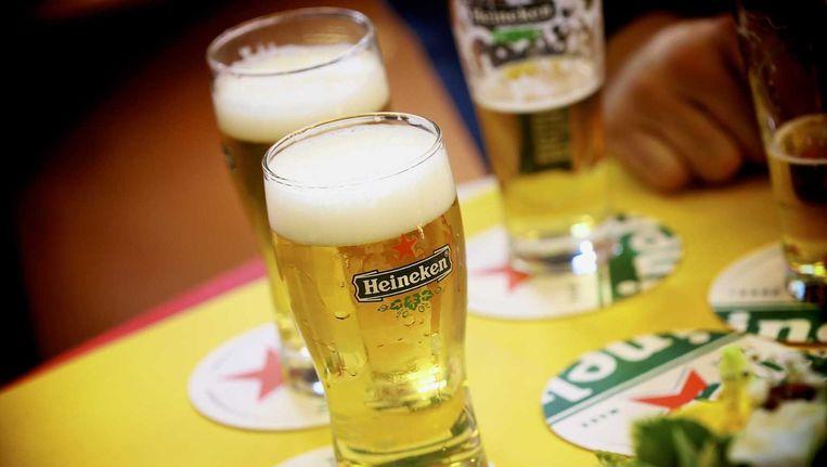 Heineken heeft in het eerste halfjaar meer bier gebrouwen, maar daaraan minder winst over gehouden. Beeld ANP